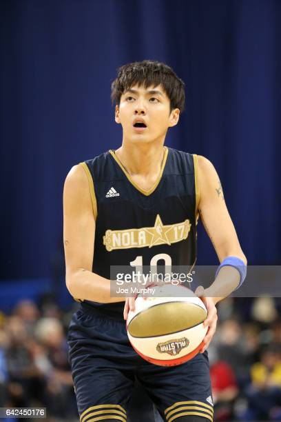 Kris Wu of the East Team shoots during the NBA AllStar Celebrity Game as a part of 2017 AllStar Weekend at the MercedesBenz Superdome on February 17...