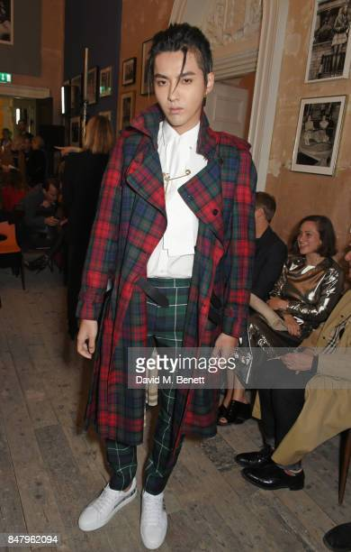 Kris Wu wearing Burberry at the Burberry September 2017 at London Fashion Week at The Old Sessions House on September 16 2017 in London England