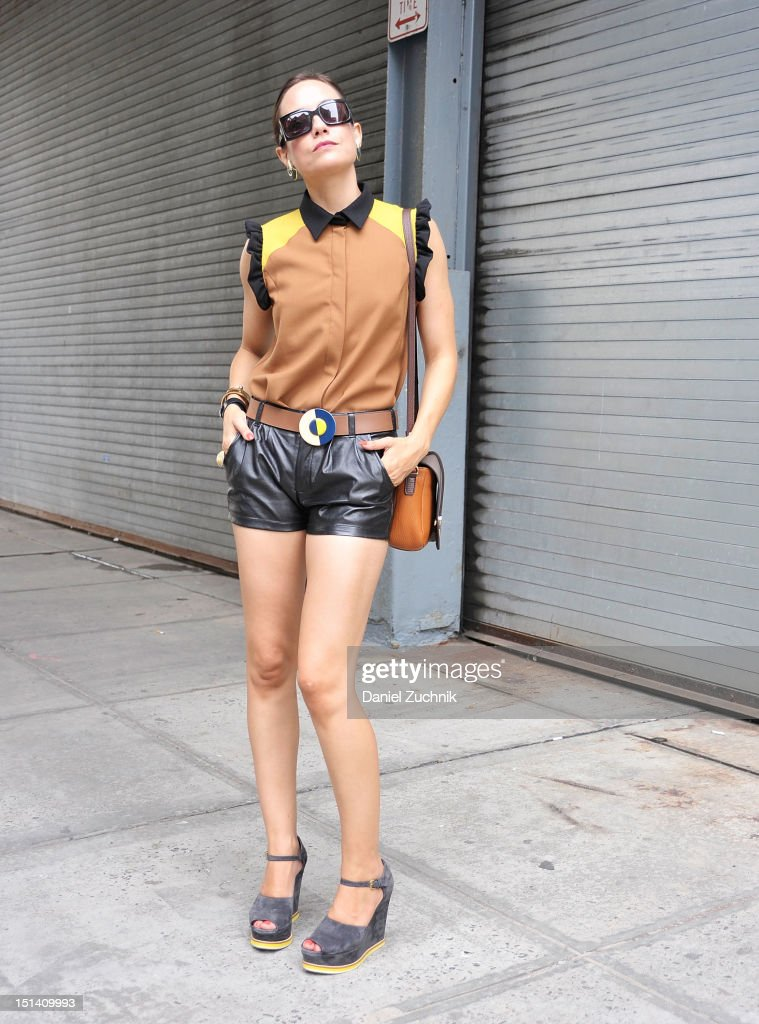 Krisana Palma, a stylst, is seen outside the Jenny Lai show wearing all Marni on September 6, 2012 in New York City.