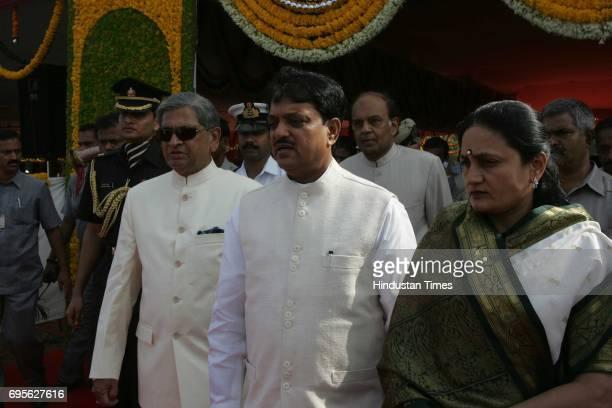 M Krishna and Vilasrao Deshmukh with wife