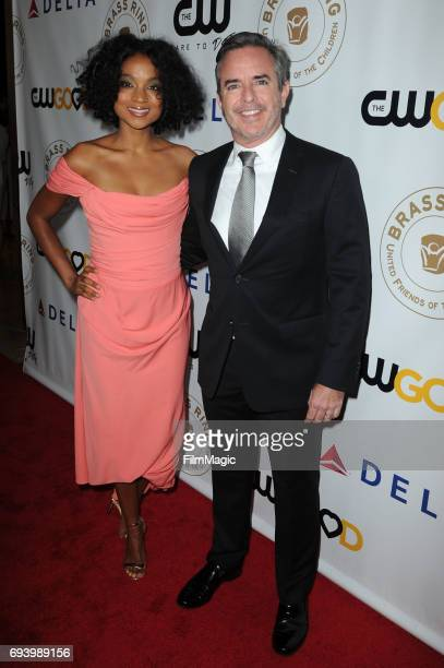 Krishna Daly and Robert Daly Jr attend the United Friends of the Children Honors The CW and CW Good at the Annual Brass Ring Awards Dinner at The...