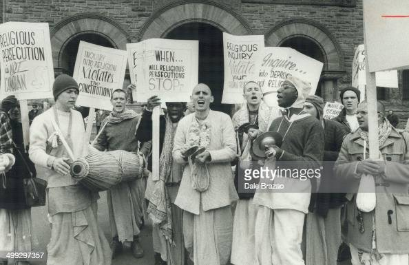 Krishna hold protest chant About 100 chanting members of Hare Krishna movement held a rally outside Queen's Park today to protest provincial...
