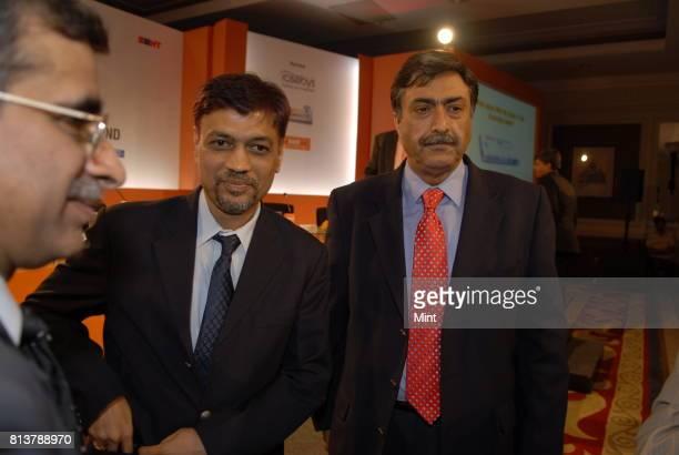 A Krishna Kumar Deputy Managing Director State Bank of India with Tamal Bandyopadhyay Deputy Managing Editor of MINT and Pravir VohraChief Technology...
