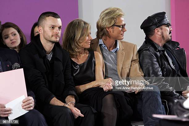 Kriss Van Assche Claire Chazal Arnaud Lemaire and Peter Marino attend the Christian Dior HauteCouture show as part of the Paris Fashion Week...