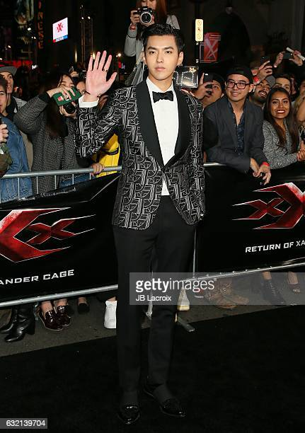 Kriss Wu attends the premiere of Paramount Pictures' 'xXx Return Of Xander Cage' on January 19 2017 in Los Angeles California