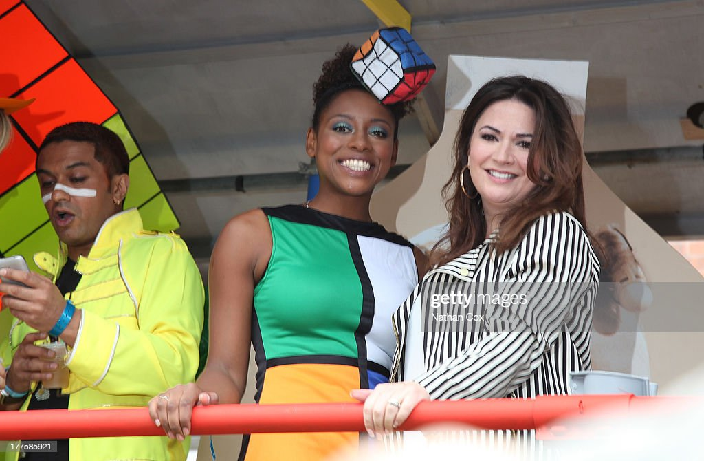 Krissi Bohn and Debbie Rush attend Manchester Pride on August 24, 2013 in Manchester, England.