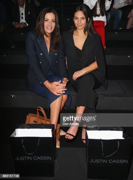 Krissy Marsh and Eliza Gazal pose prior to the Justin Cassin show at MercedesBenz Fashion Week Resort 18 Collections at Carriageworks on May 15 2017...