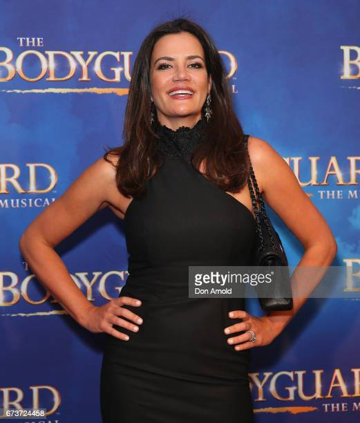 Krissy Marsh arrives ahead of opening night of The Bodyguard The Musical at Lyric Theatre Star City on April 27 2017 in Sydney Australia