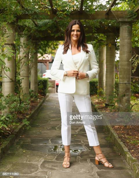Krissy Marsh poses during a photo call for the Real Housewives of Sydney at Chiswick Restaurant on May 12 2017 in Sydney Australia