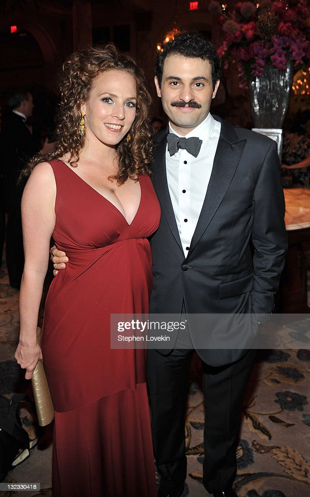 Krissy Shields and Arian Moayed attend the party following the 65th Annual Tony Awards at on June 12, 2011 in New York City.