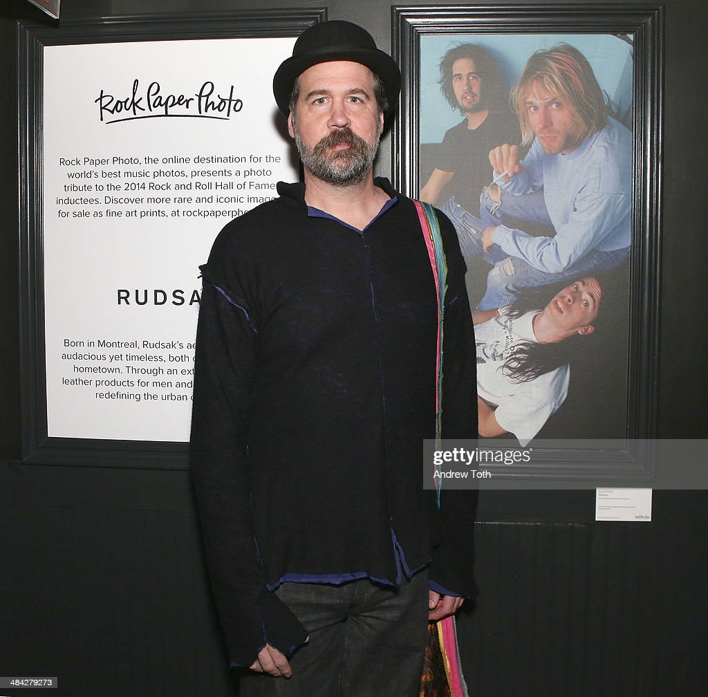 <a gi-track='captionPersonalityLinkClicked' href=/galleries/search?phrase=Krist+Novoselic&family=editorial&specificpeople=1054333 ng-click='$event.stopPropagation()'>Krist Novoselic</a> attends the FairVote Benefit hosted by Krist Novolesic and Rock Paper Photo at No.8 on April 11, 2014 in New York City.