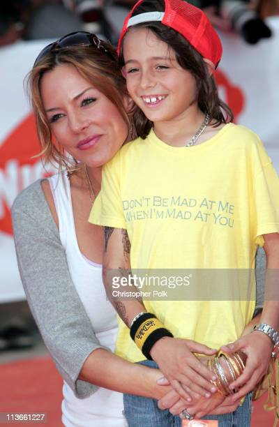 Krista Allen and son Jacob during Nickelodeon's 18th Annual Kids Choice Awards Orange Carpet at Pauley Pavilion in Los Angeles California United...