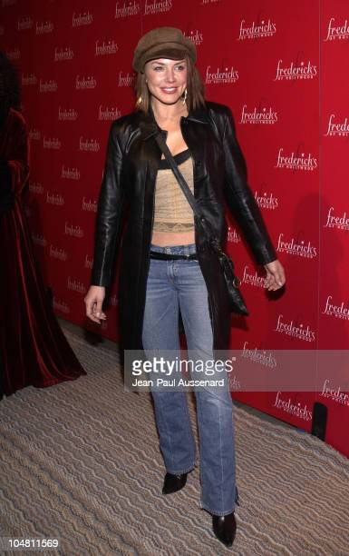 Krista Allen during Frederick's of Hollywood Red Party at Falcon in Hollywood California United States