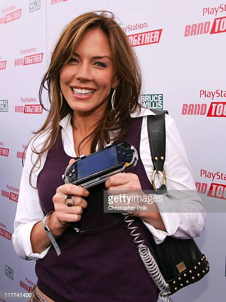 Krista Allen during Sony Computer Entertainment America and the Bruce Willis Foundation Present Playstation BANDtogether Arrivals at Smashbox Studios...
