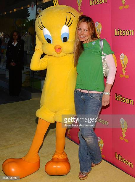Krista Allen with Tweety during Tweety 'Natural Blonde' Shopping Party and Clothing Launch Arrivals at Kitson in Los Angeles California United States