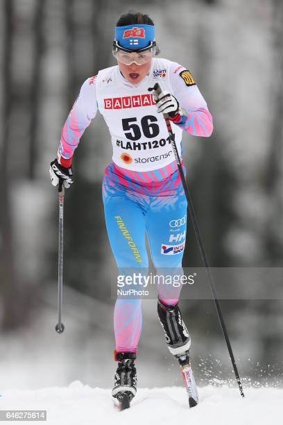 Krista Parmakoski competes during the women cross country 10 km individual classic competition of the 2017 FIS Nordic World Ski Championships in...