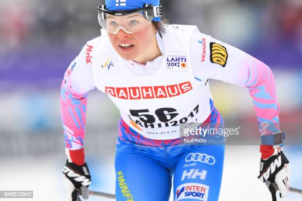 Krista Parmakoski from Finland during Ladies crosscountry 100km Individual Classic final at FIS Nordic World Ski Championship 2017 in Lahti On...
