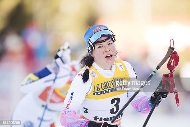 Krista Parmakoski of Finland competes during the women's 9 km F Pursuit on January 8 2017 in Val di Fiemme Italy