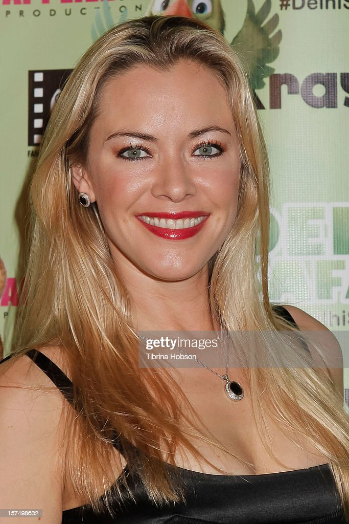 Kristanna Loken attends the Delhi Safari Los Angeles premiere at Pacific Theatre at The Grove on December 3, 2012 in Los Angeles, California.
