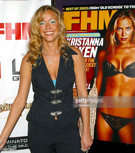 Kristanna Loken during Kristanna Loken and FHM Magazine Celebrate Release of 'Terminator 3 Rise of the Machines' DVD at Eugene's in New York City NY...