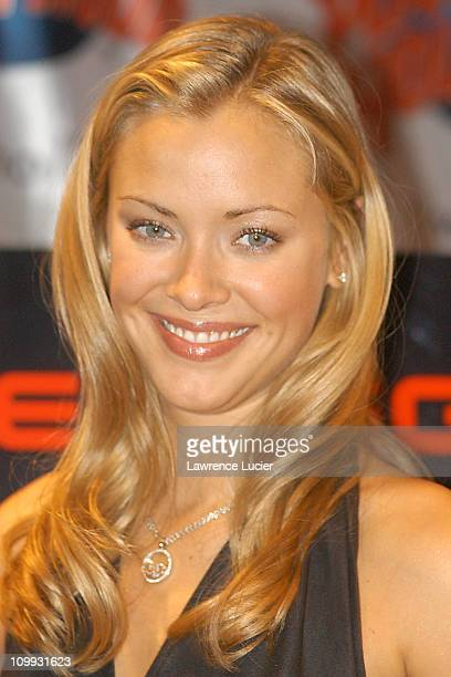 Kristanna Loken during Kristanna Loken Appears with Costume From Terminator 3 at Planet Hollywood in New York City New York United States