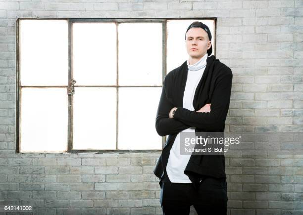 Kristaps Porzingis of the New York Knicks pose for a photo during the 2017 AllStar Media Circuit at the Ritz Carlton in New Orleans LA NOTE TO USER...