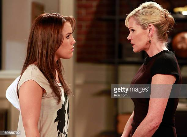 HOSPITAL Kristen Alderson and Maura West in a scene that airs the week of May 27 2013 on ABC's 'General Hospital' 'General Hospital' airs...