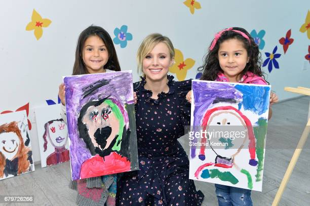 Kristen Bell and guests attend Baby2Baby Mother's Day Party Presented By TinyPrints at Baby2Baby Headquarters on May 6 2017 in Los Angeles California