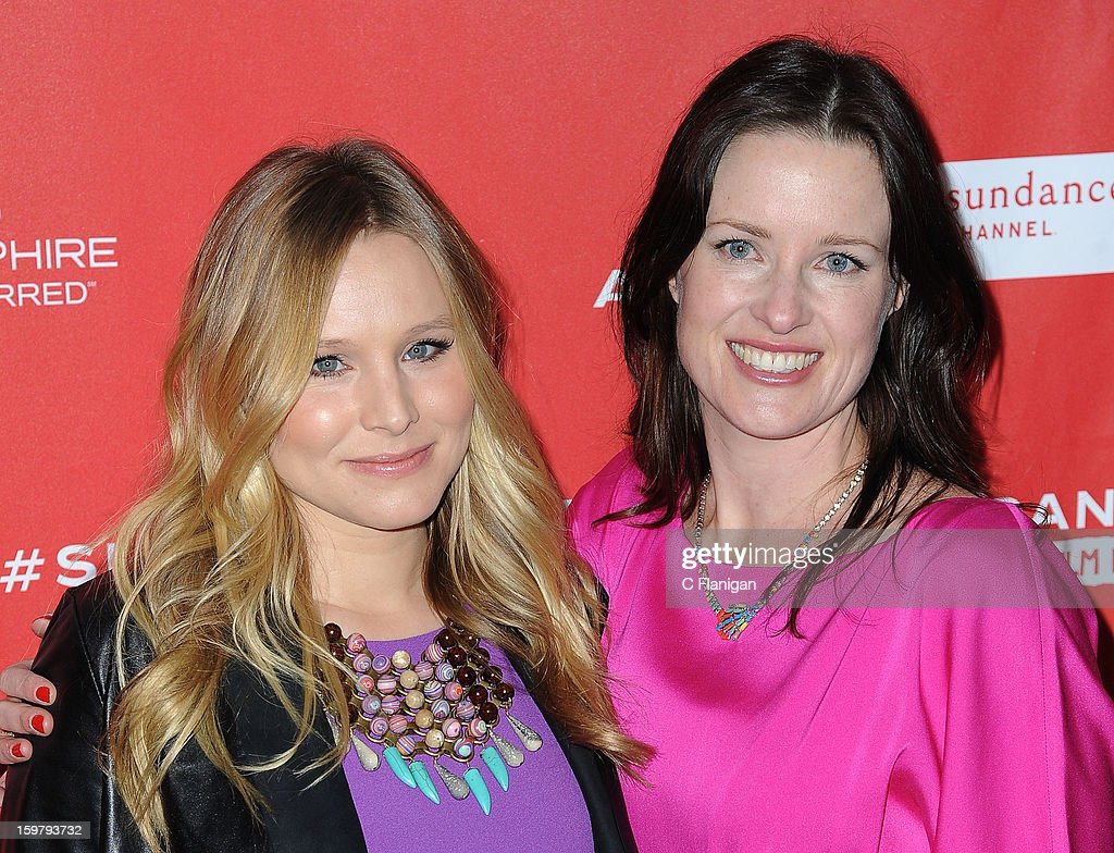 Kristen Bell and Liz Garcia arrive at 'The Lifeguard' Premiere - 2013 Sundance Film Festival at Library Center Theater on January 19, 2013 in Park City, Utah.