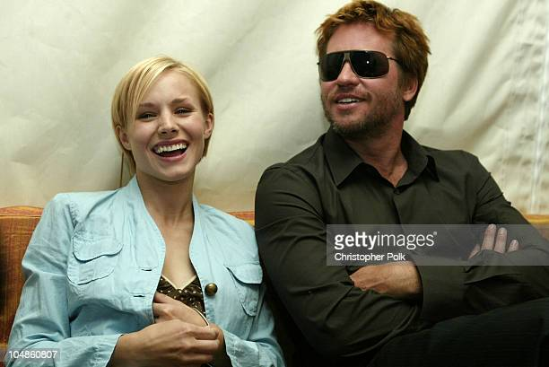 Kristen Bell and Val Kilmer during Beverly Hills City Hall Illuminated with a Design by Guy Laliberte at Beverly Hills City Hall in Beverly Hills...