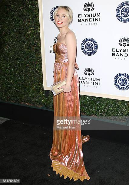 Kristen Bell arrives at The Art of Elysium celebrating the 10th Anniversary held at Red Studios on January 7 2017 in Los Angeles California