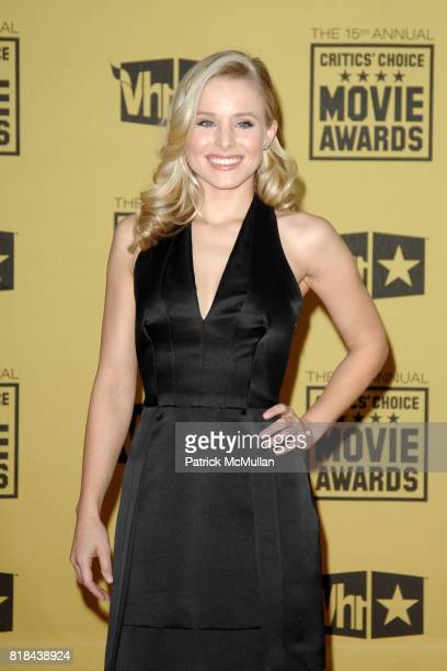 Kristen Bell attends 2010 Critics Choice Awards at The Palladium on January 15 2010 in Hollywood California