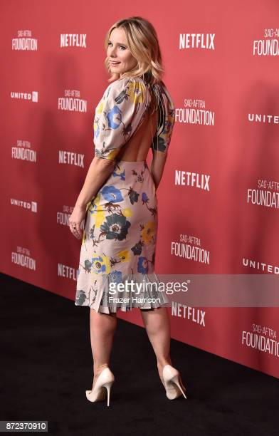 Kristen Bell attends SAGAFTRA Foundation Patron of the Artists Awards at the Wallis Annenberg Center for the Performing Arts 2017 on November 9 2017...