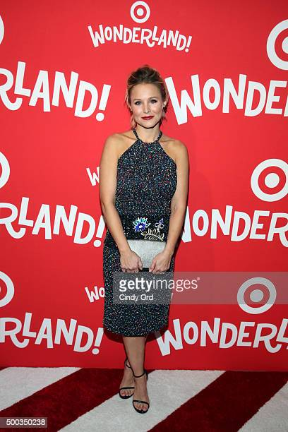 Kristen Bell attends Target Wonderland VIP event on December 7 2015 at Target Wonderland 70 10th Avenue in New York City