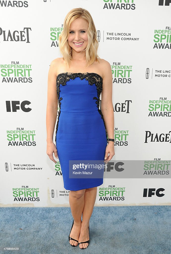 Kristen Bell attends the 2014 Film Independent Spirit Awards at Santa Monica Beach on March 1, 2014 in Santa Monica, California.