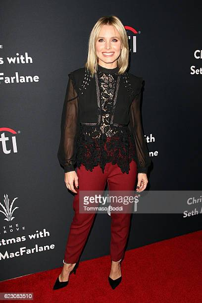 Kristen Bell attends The Grove Christmas With Seth MacFarlane at The Grove on November 13 2016 in Los Angeles California