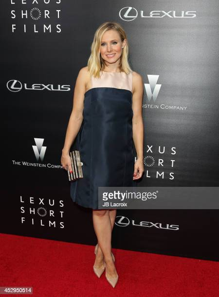 Kristen Bell attends the Lexus Shorts Films presented by The Weinstein Company and Lexus at the Regal Cinemas at LA Live on July 30 2014 in Los...