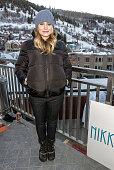 Kristen Bell attends the Nikki Beach popup lounge restaurant at Sundance on January 20 2013 in Park City Utah
