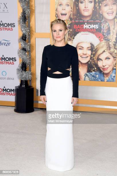 Kristen Bell attends the premiere of STX Entertainment's 'A Bad Moms Christmas' at Regency Village Theatre on October 30 2017 in Westwood California