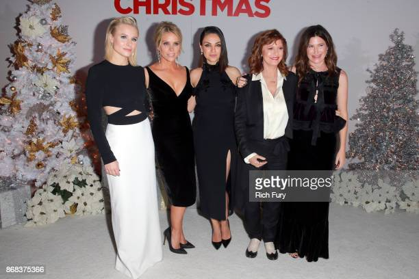 Kristen Bell Cheryl Hines Mila Kunis Susan Sarandon and Kathryn Hahn attend the premiere of STX Entertainment's 'A Bad Moms Christmas' at Regency...
