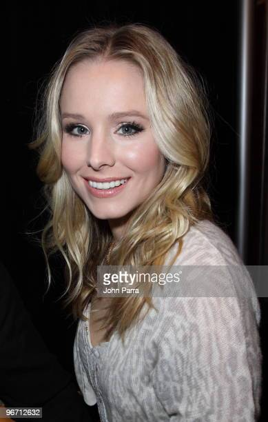 Kristen Bell is seen around Bryant Park during day 4 of MercedesBenz Fashion Week Fall 2010 at Bryant Park on February 14 2010 in New York City