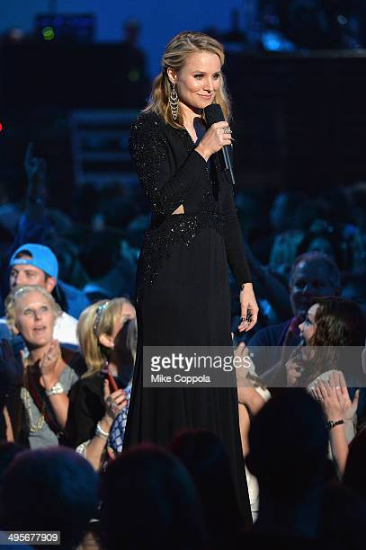 Kristen Bell speaks onstage during the 2014 CMT Music awards at the Bridgestone Arena on June 4 2014 in Nashville Tennessee
