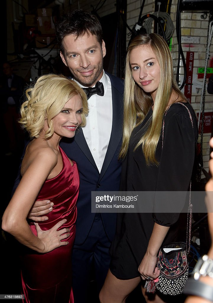 Kristen Chenoweth, Harry Connick jr and daughter Georgia Connick attend the 2015 Tony Awards at Radio City Music Hall on June 7, 2015 in New York City.