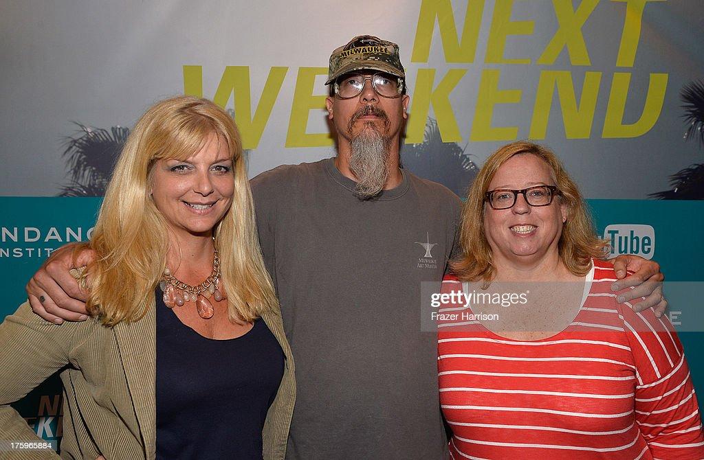 Kristen Cummins, Filmmaker Mark Borchardt and Kim Adelman attend NEXT WEEKEND, presented by Sundance Institute at Sundance Sunset Cinema on August 10, 2013 in Los Angeles, California.