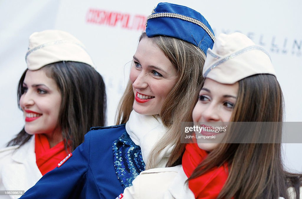 Kristen Da Costa, Allison Rihn and Kaitlin Monti attend 2012 Kisses For The Troops at Times Square on November 12, 2012 in New York City.