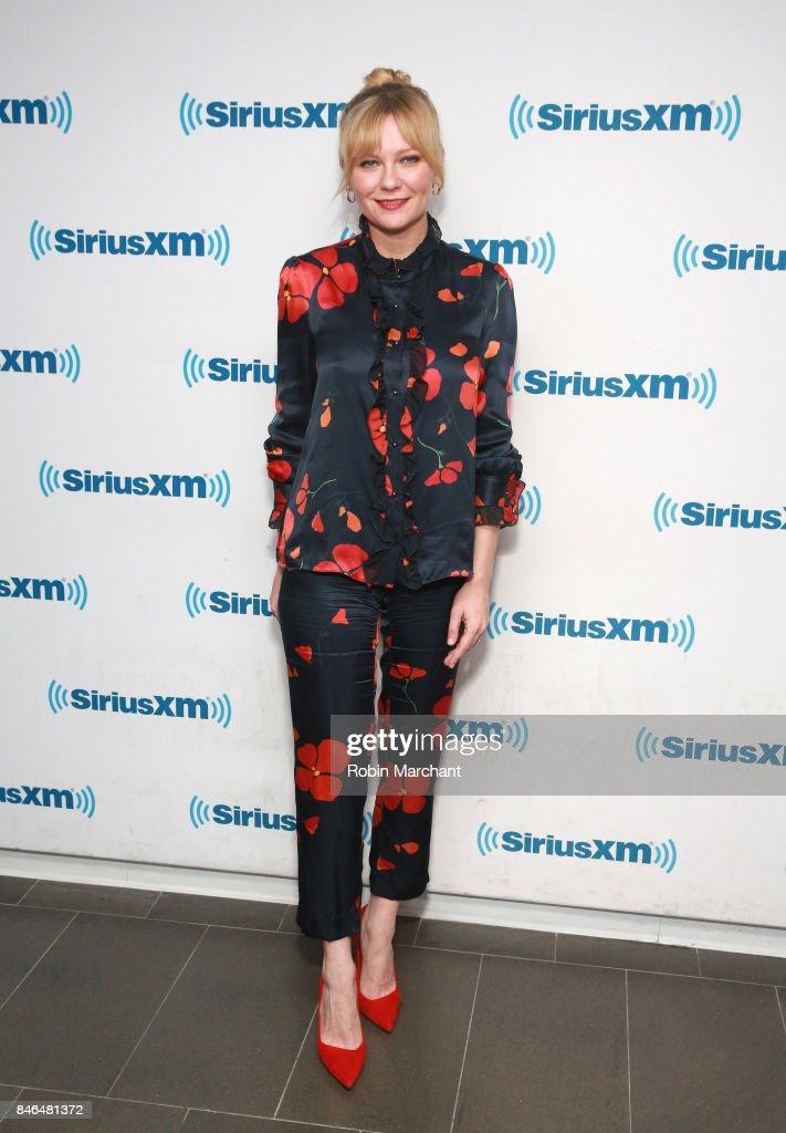 Kristen Dunst visits at SiriusXM Studios on September 13, 2017 in New York City.