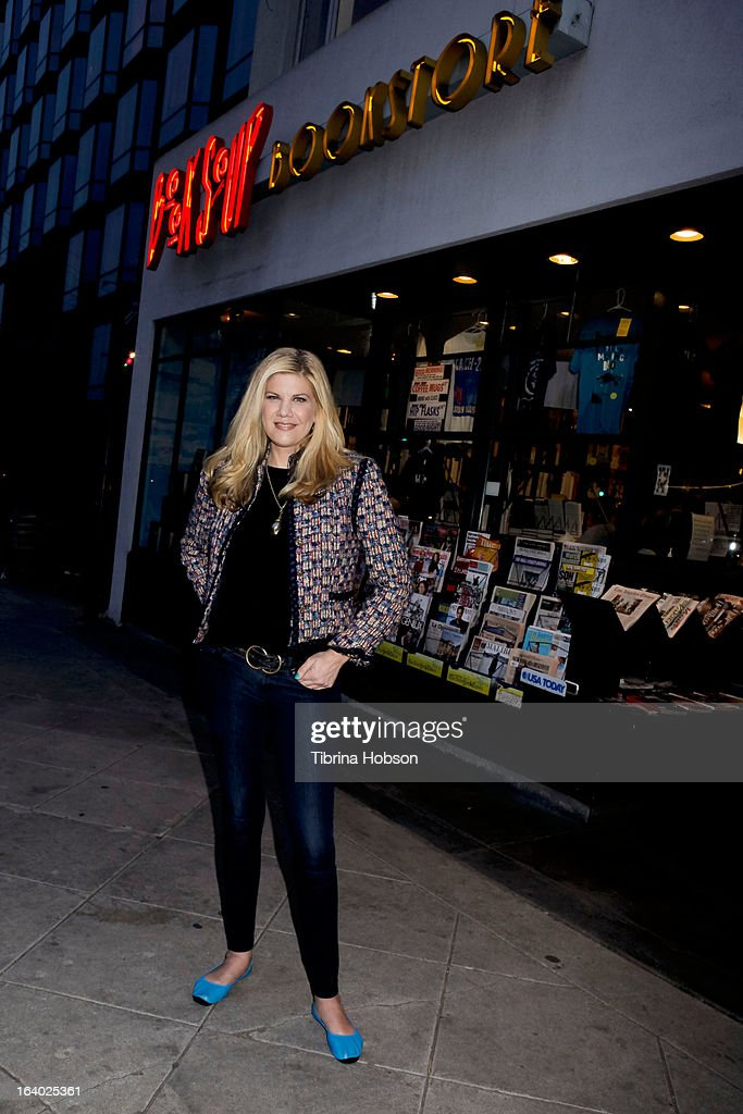 Kristen Johnston signs copies of her book 'Guts' at Book Soup on March 18, 2013 in West Hollywood, California.