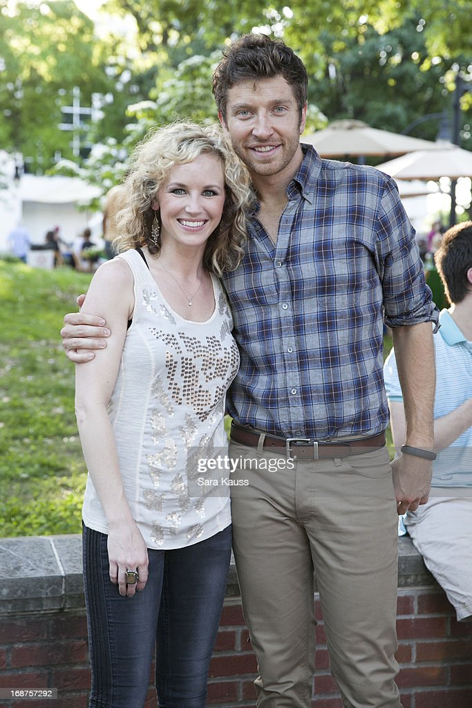 Kristen Kelly and <a gi-track='captionPersonalityLinkClicked' href=/galleries/search?phrase=Brett+Eldredge&family=editorial&specificpeople=7334271 ng-click='$event.stopPropagation()'>Brett Eldredge</a> attend the GRAMMY Block Party at Owen Bradley Park on May 14, 2013 in Nashville, Tennessee.