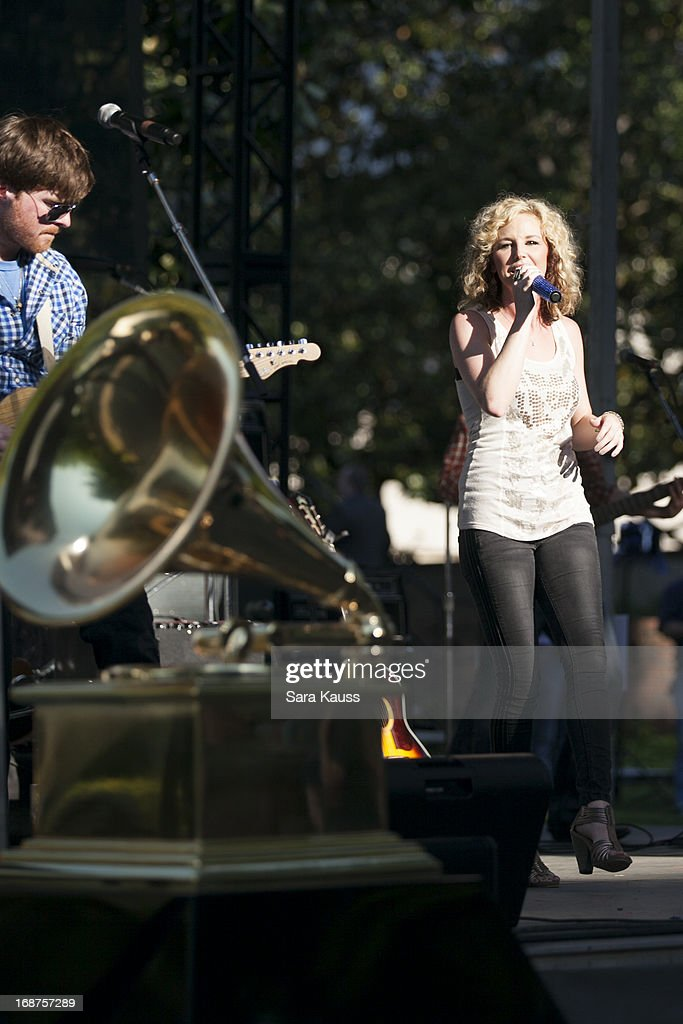 Kristen Kelly performs at the GRAMMY Block Party at Owen Bradley Park on May 14, 2013 in Nashville, Tennessee.