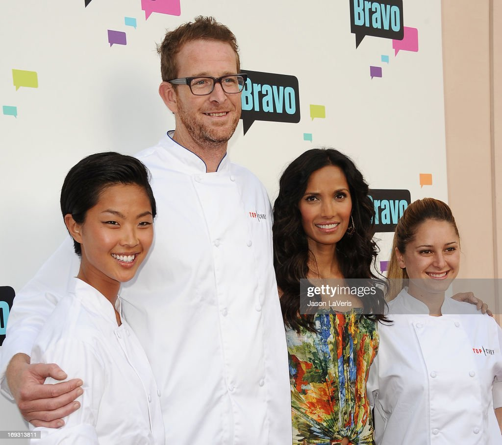 Kristen Kish, CJ Jacobson, Padma Lakshmi and Brooke Williamson attend Bravo Media's 2013 For Your Consideration Emmy event at Leonard H. Goldenson Theatre on May 22, 2013 in North Hollywood, California.